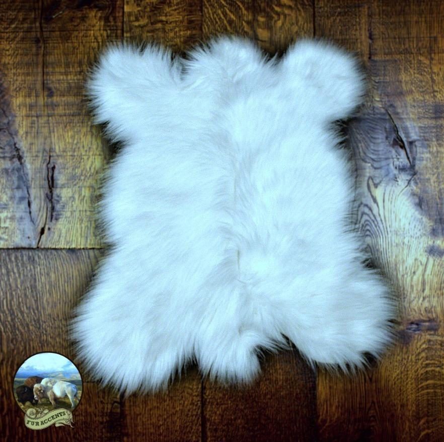 fur accents faux fur mini mountain bear skin sheepskin throw rug premium faux fur