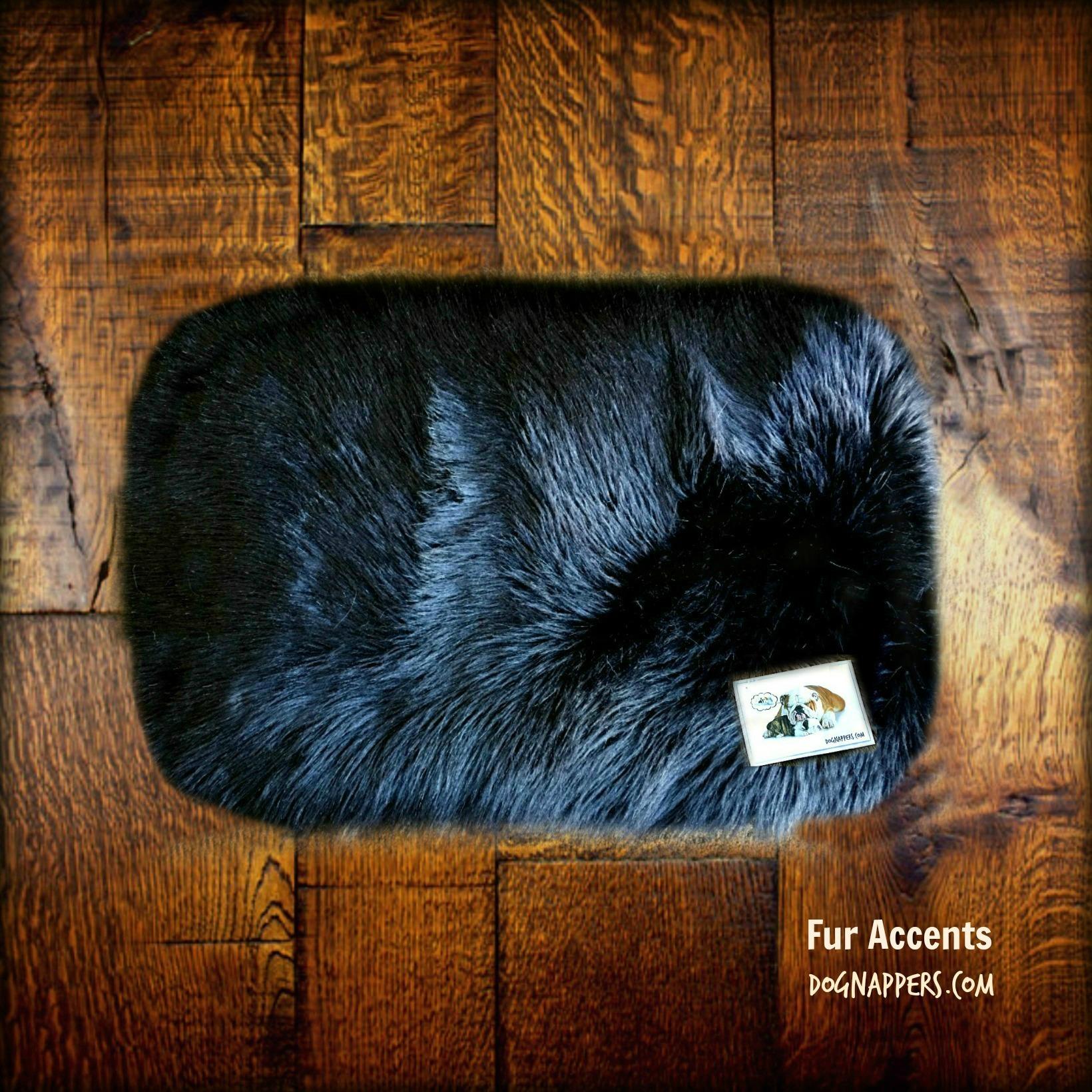 Shaggy Soft Plush Faux Fur DogNapper Dog Bed