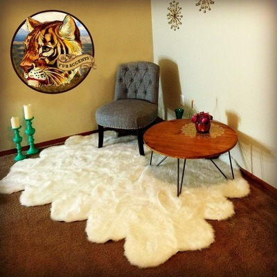 fur accents faux fur area rug sexto multi pelt sheepskin design plush