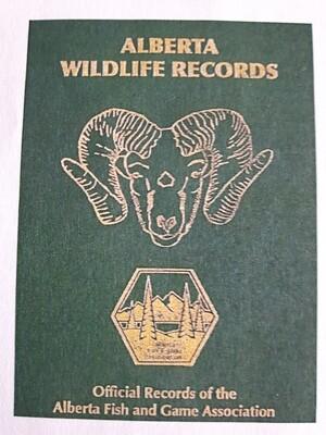 PRE-SALE: Alberta Wildlife Records Book