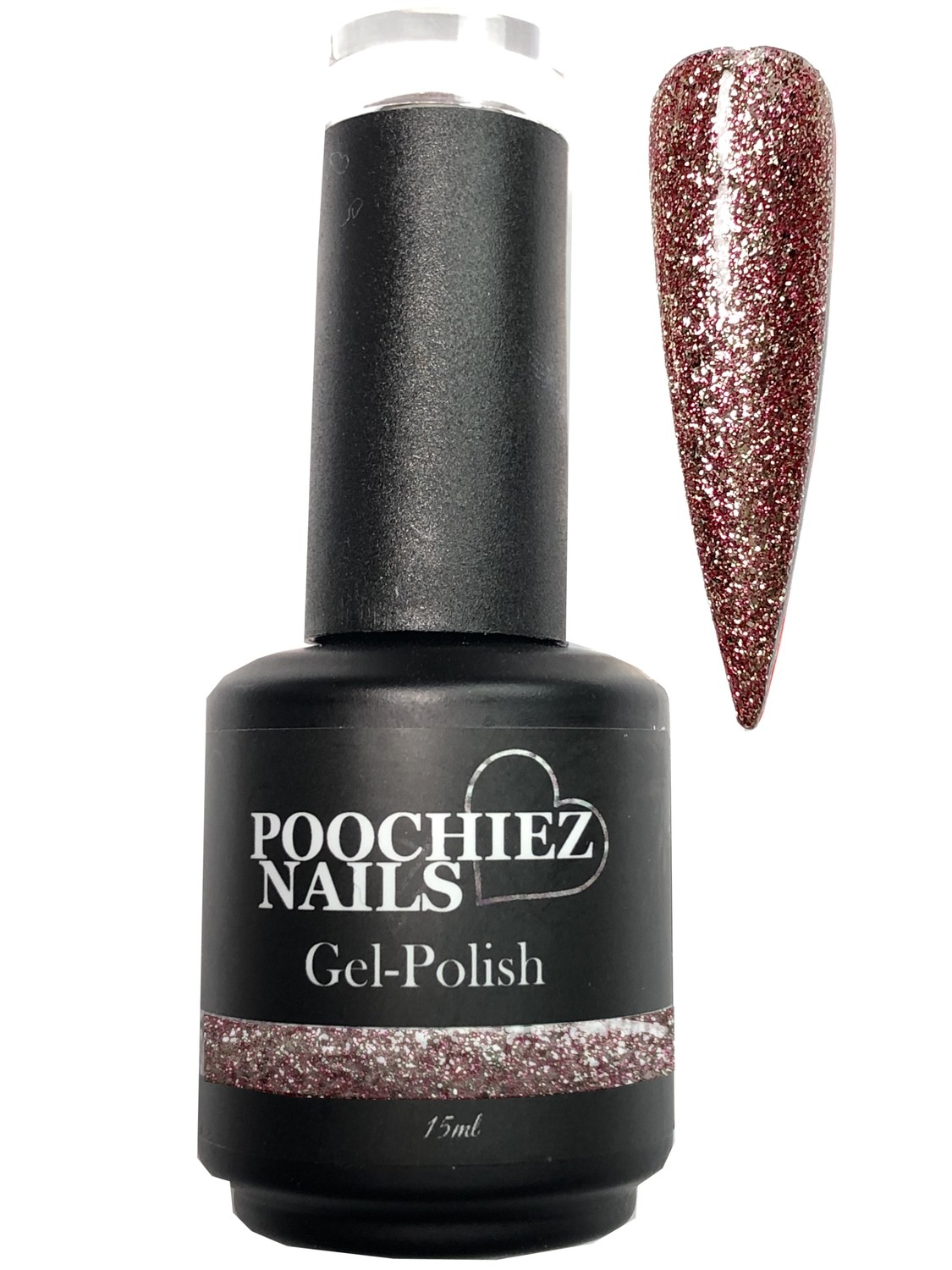 PINK ROSE GLITTER GEL POLISH