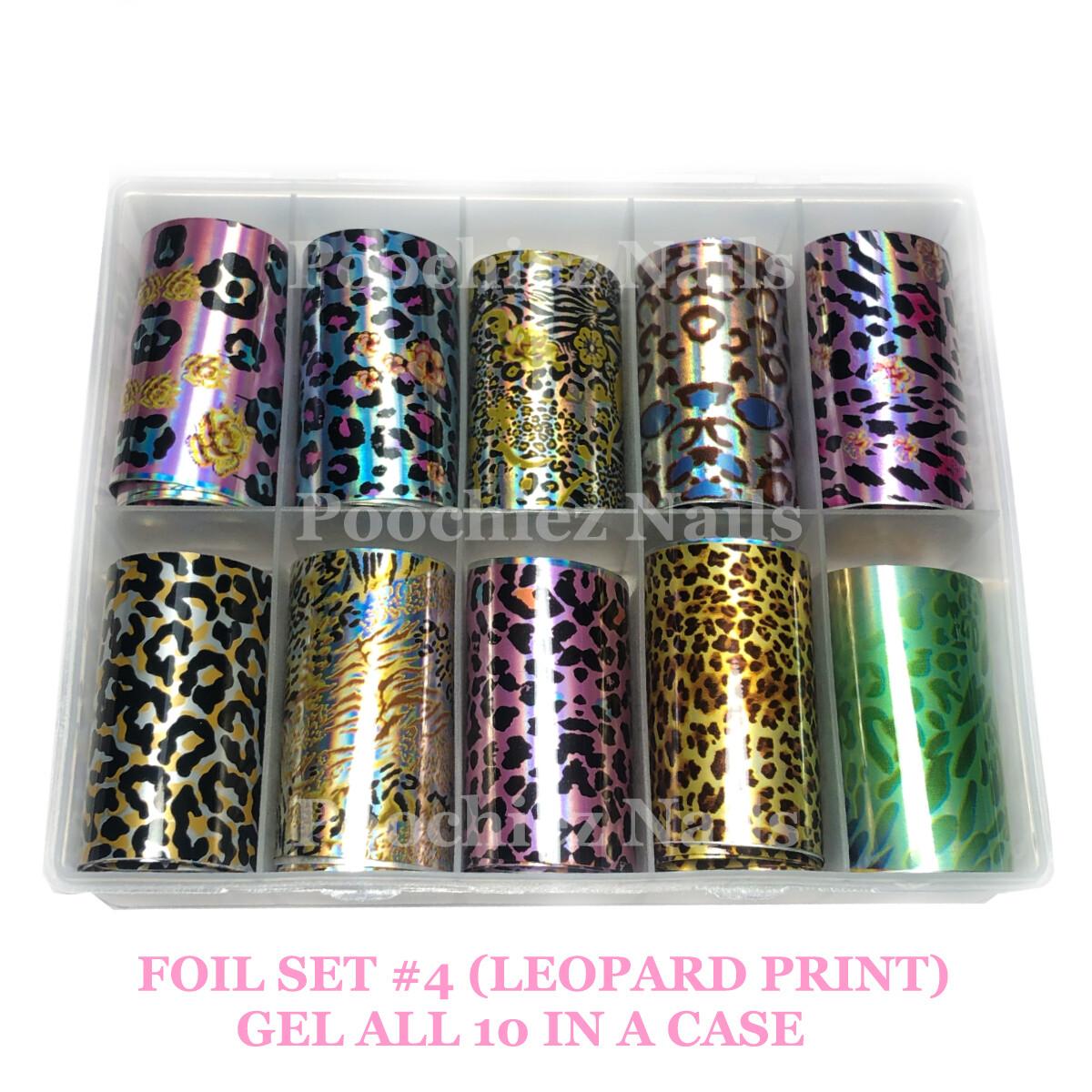 FOIL SET #4 (LEOPARD PRINT)