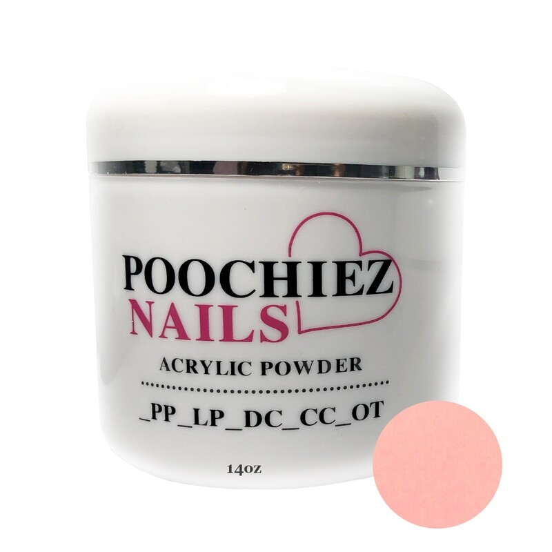 (PA1) 14oz POOCHIEZ PINK COVER ACRYLIC