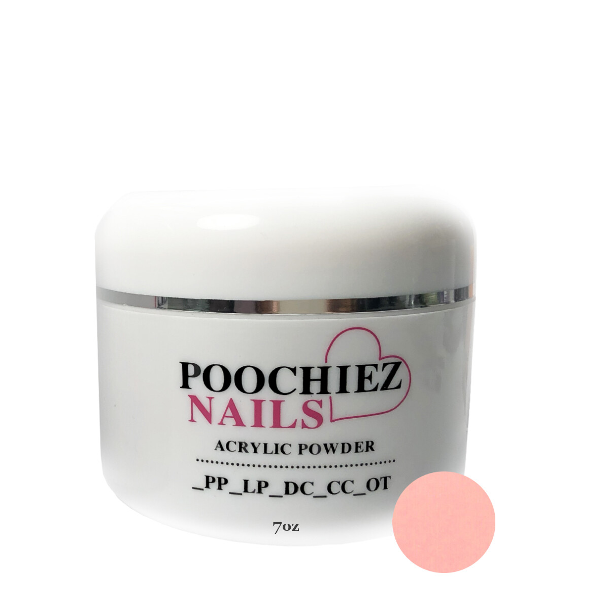 (PA2) 7oz POOCHIEZ PINK COVER ACRYLIC