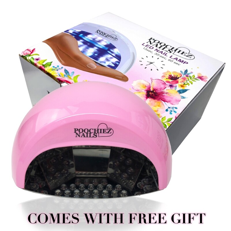 (PINK) POOCHIEZ NAILS LED MINI LAMP (PLUS FREE GIFT)