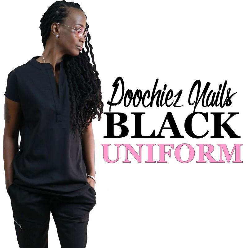 #1 POOCHIEZ BLACK UNIFORM