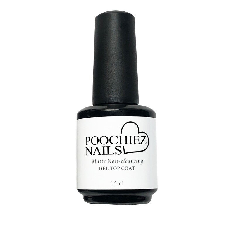 ITEM #33 NEW POOCHIEZ NAILS MATTE UV/LED TOP COAT( KEEP AWAYS FROM SUN LIGHT)