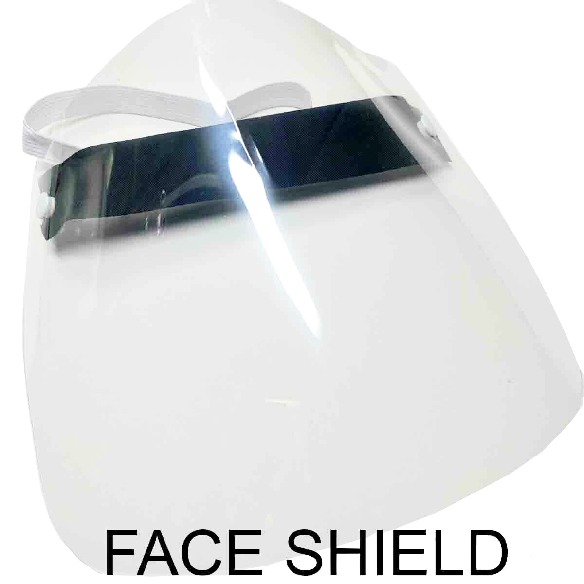 REUSABLE FACE SHIELD (REMOVE THE FILM OFF BOTH SIDES OF THE SHIELD)