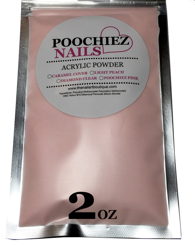 ITEM # 7 2oz POOCHIEZ PINK COVER ACRYLIC