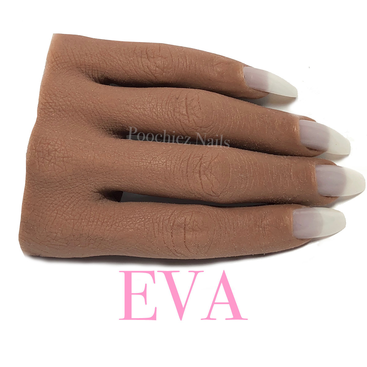 EVA HALF REALISTIC PRACTICE HAND ( PLEASE READ THE DIRECTIONS & WATCH THE VIDEOS BELOW) WILL TAKE 5-8 DAYS TO PROCESS.