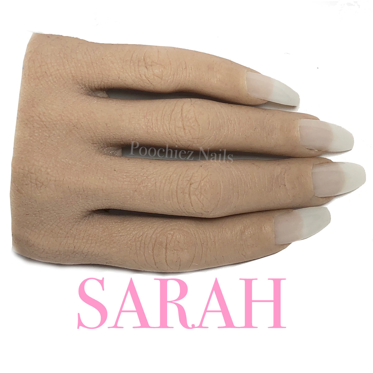 SARAH HALF REALISTIC PRACTICE HAND ( PLEASE READ THE DIRECTIONS & WATCH THE VIDEOS BELOW) WILL TAKE 5-8 DAYS TO PROCESS.