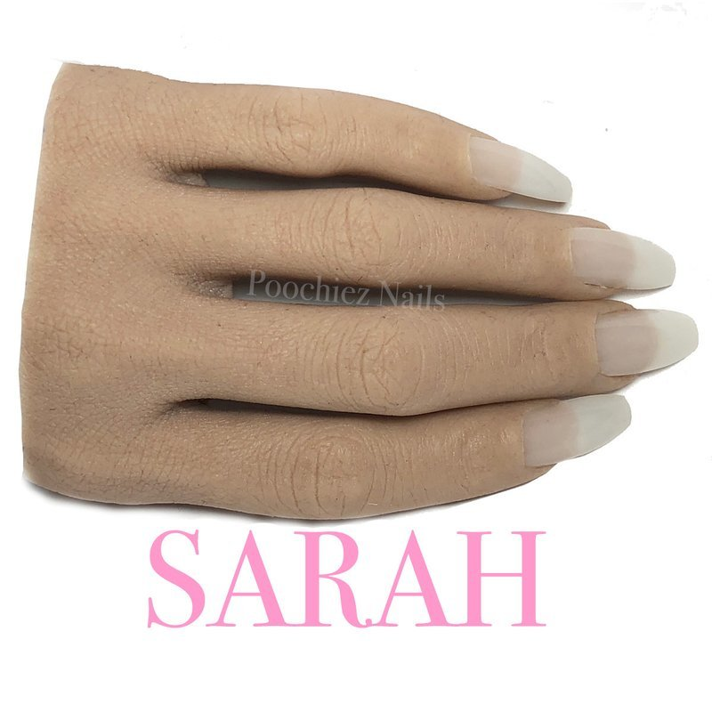 (H5) SARAH HALF REALISTIC PRACTICE HAND ( PLEASE READ THE DIRECTIONS & WATCH THE VIDEOS BELOW) WILL TAKE 5-8 DAYS TO PROCESS.