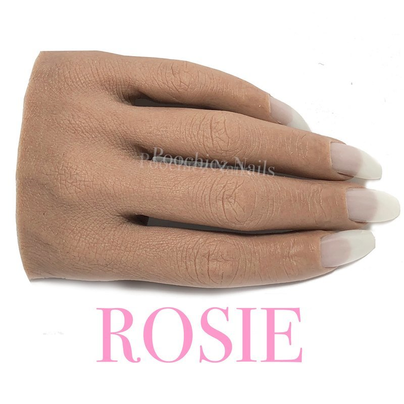 ROSIE HALF REALISTIC PRACTICE HAND ( PLEASE READ THE DIRECTIONS & WATCH THE VIDEOS BELOW) WILL TAKE 5-8 DAYS TO PROCESS.