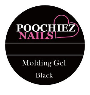POOCHIEZ NAILS MOLDING GEL BLACK 10G EACH