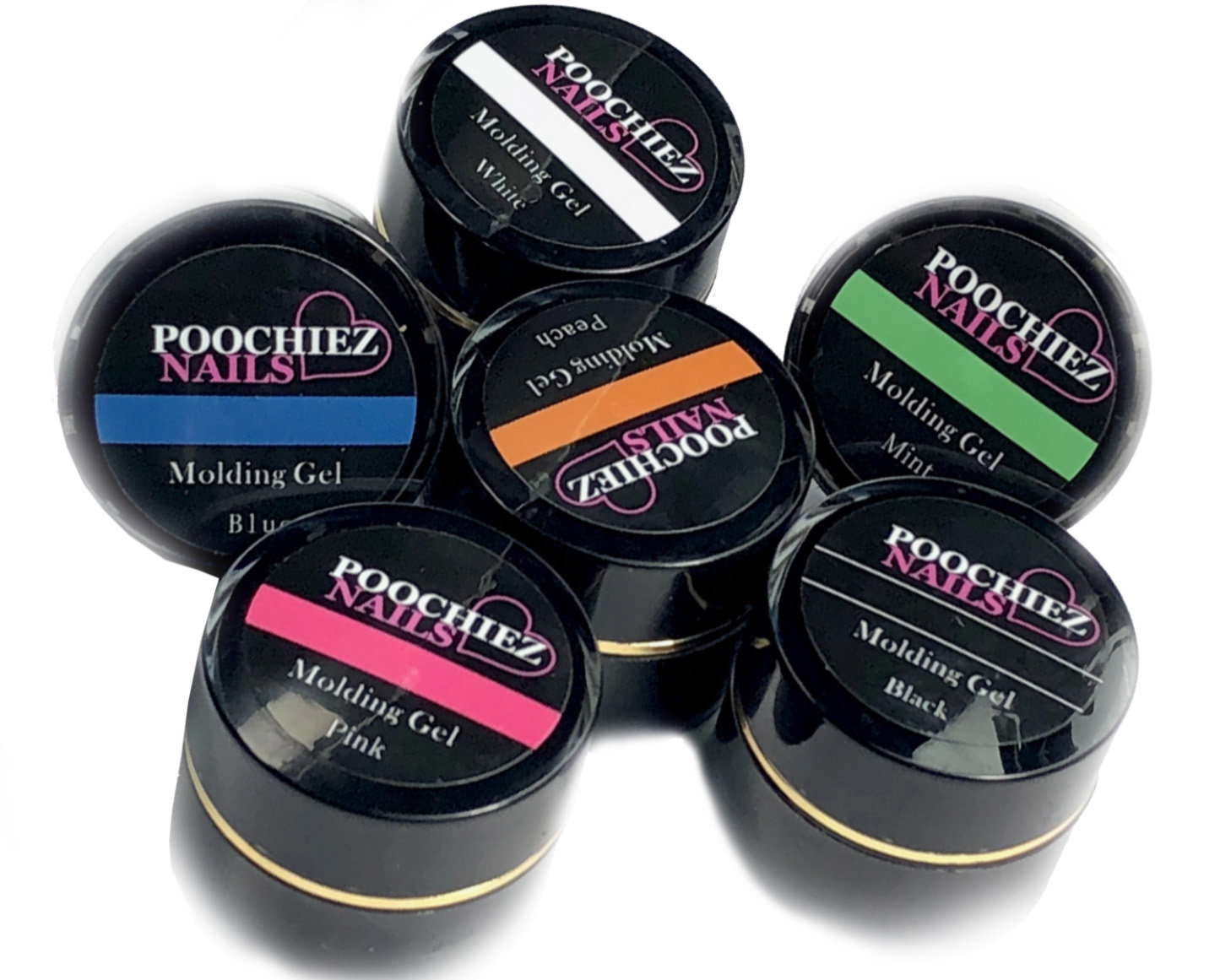 POOCHIEZ NAILS MOLDING GEL GET ALL 6 10G EACH