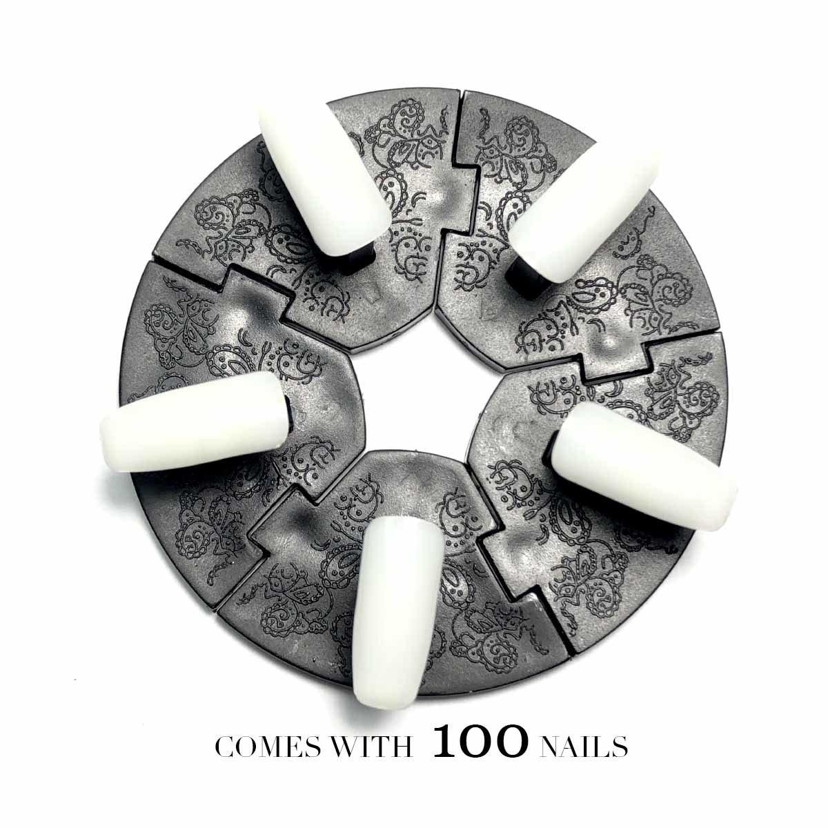NAIL ART WHEEL COMES WITH 100 NAILS