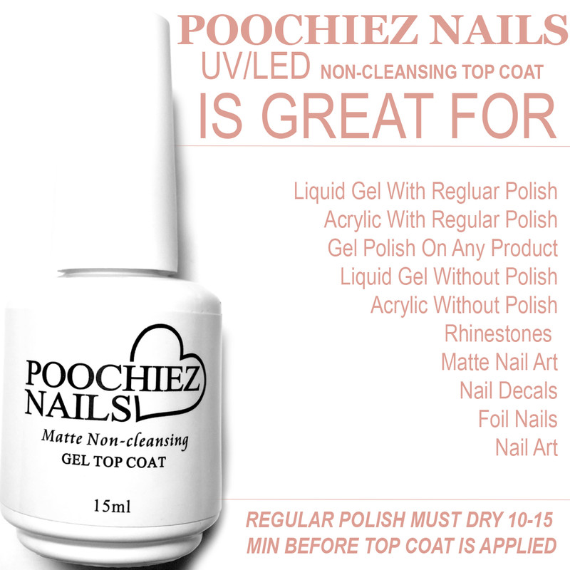 ITEM #31 POOCHIEZ NAILS MATTE UV/LED TOP COAT( KEEP AWAYS FROM SUN LIGHT)