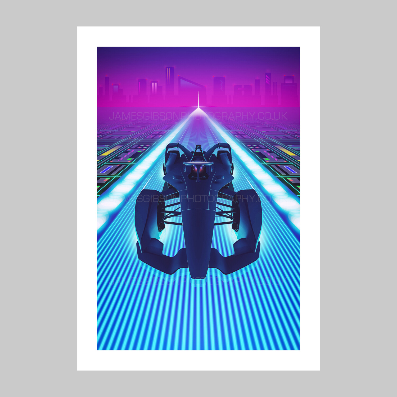 F Zero - Formula E Gen. 2 - A2 Print