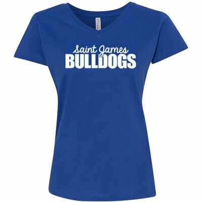 Ladies Royal Blue V-Neck