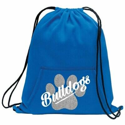* Bulldogs Glitter Fleece Cinch Bag (SS)
