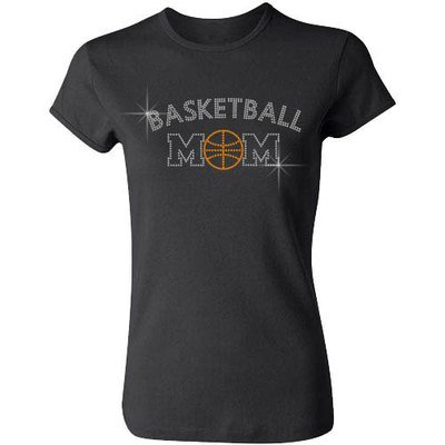 Basketball Mom (Arched Letters)