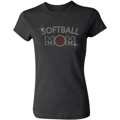 Softball Mom (Arched Letters)
