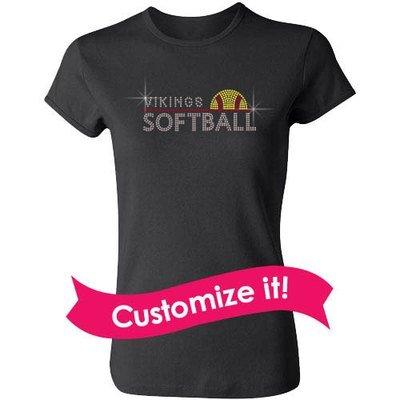 Custom Mascot Softball