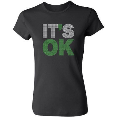 It's Ok Rhinestone Tee