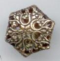 Cricket Cage Button, Hexagon Shape, Small