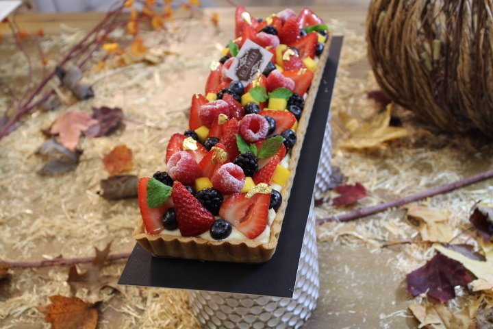 Fruit Tart - Rectangle with Berries