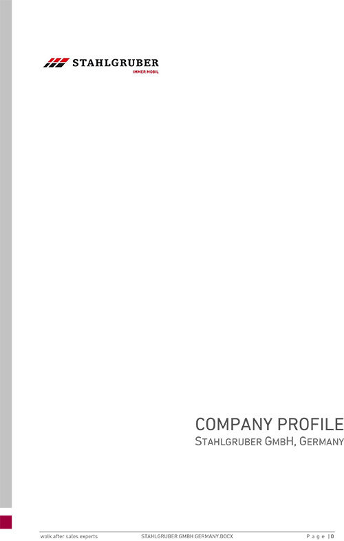 Company profile - Stahlgruber GmbH