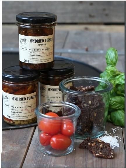 LE CRU delikatesse Franske soltørret tomater & hvidløg