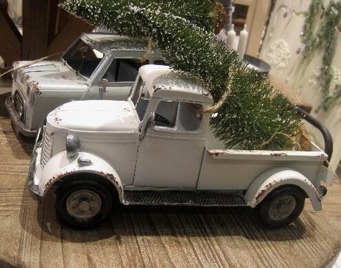 Vintage Bil m.juletræ