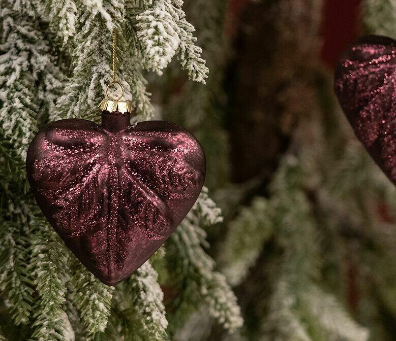 Juletræspynt-hjerte