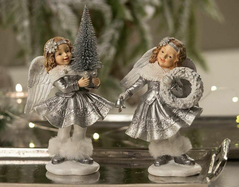 Engel sølv m/krans