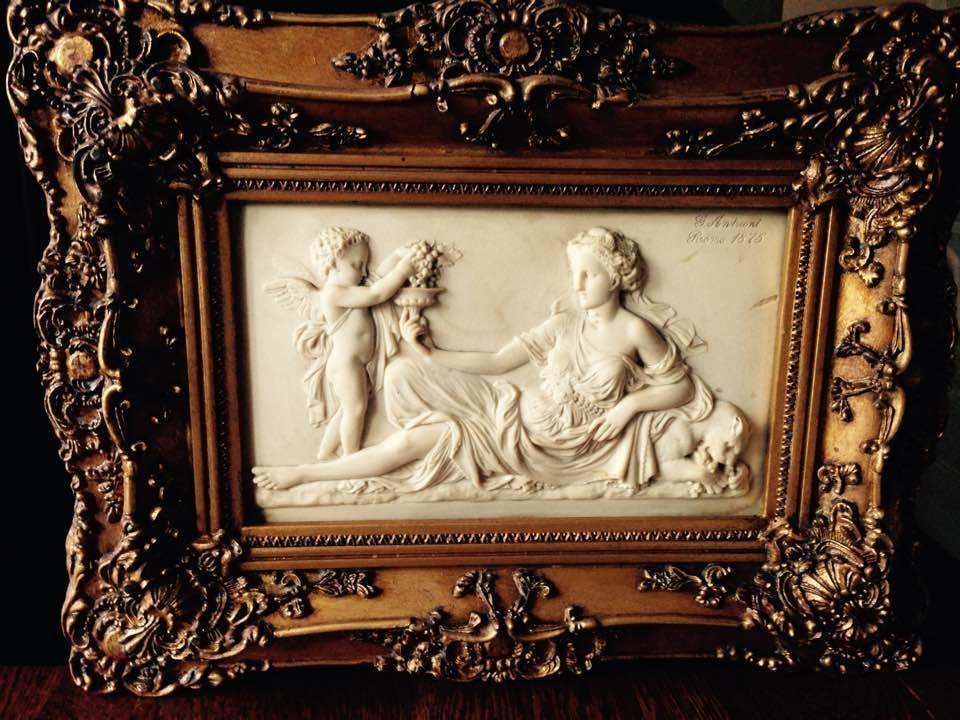 G. ANDREONI 1875 ITALIAN MARBLE PLAQUE!