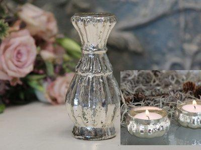 Mini vase og 2 fyrfadslys stager
