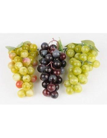 Dekorationsfrugt - Vindrue klasse, grøn/rød. H14 cm