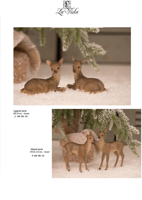 Bambi stående sæt af to H14.5L12 cm.