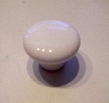 Hvid porcelæns knop Ø3 cm