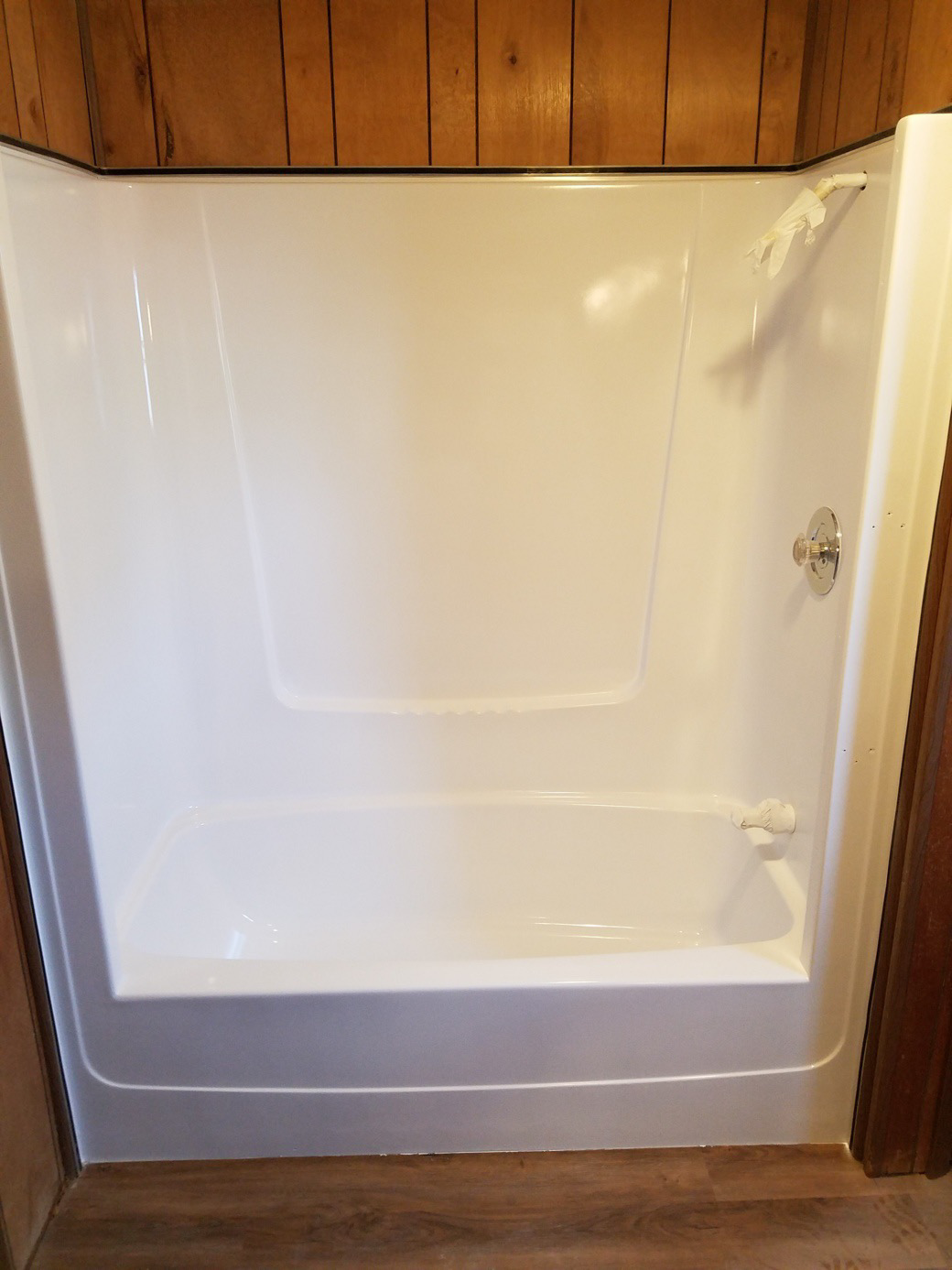 Fiberglass Bathtub + Surround Refinishing