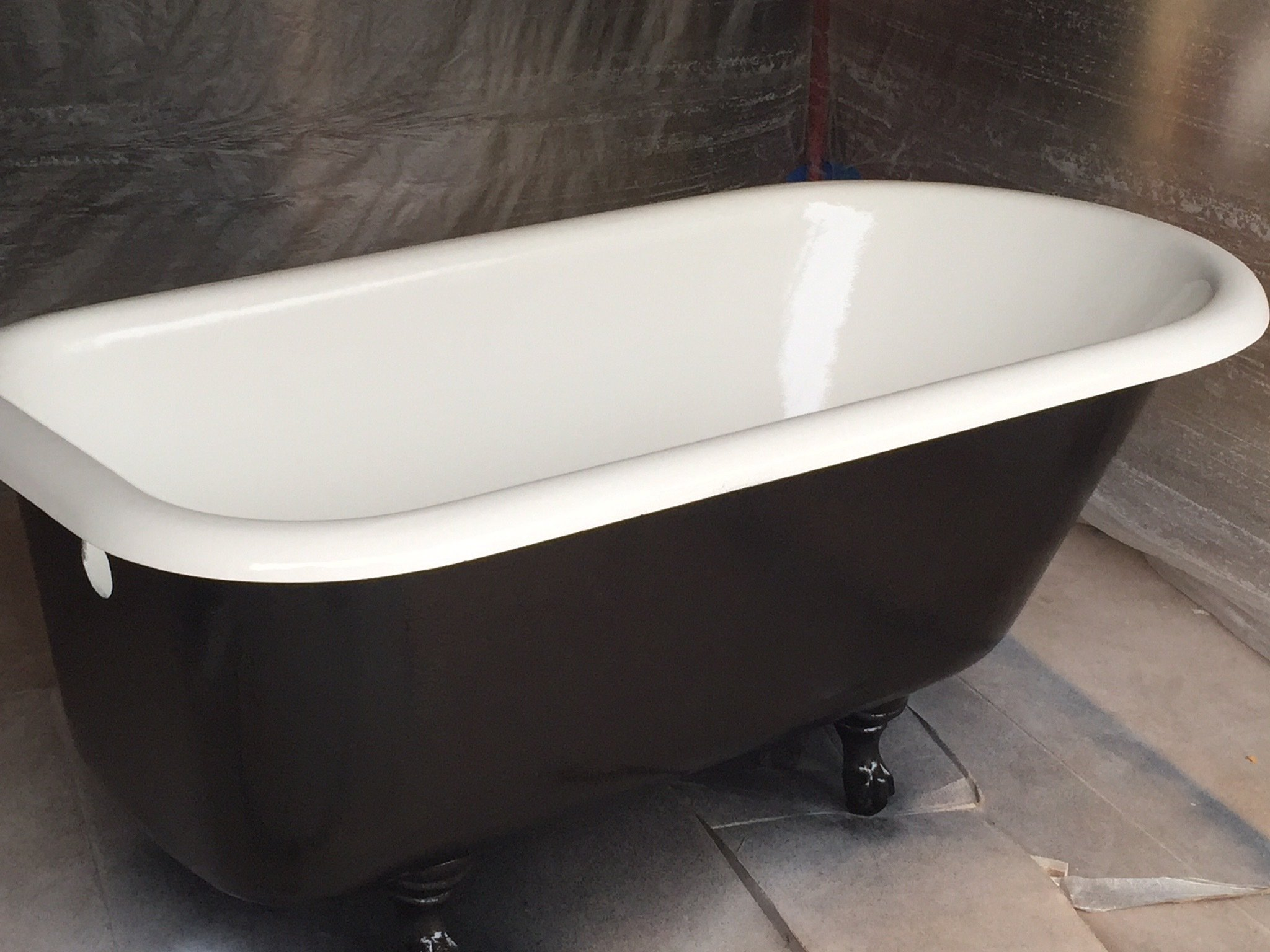 ClawFoot Tub Outside And Inside Outside And Inside Before After Our Proven  System Bathtub Refinishing ...
