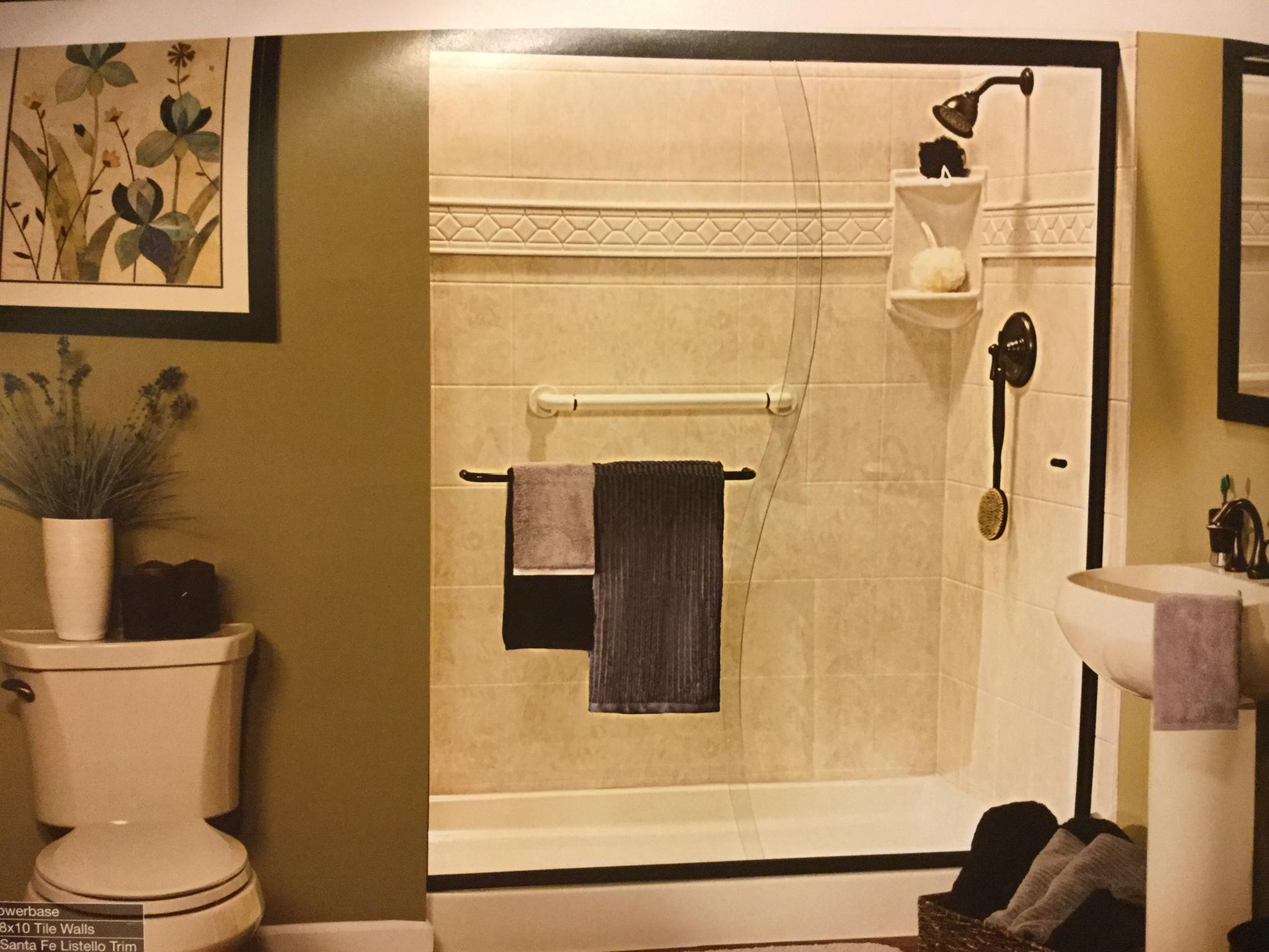 shower to tile convert tub