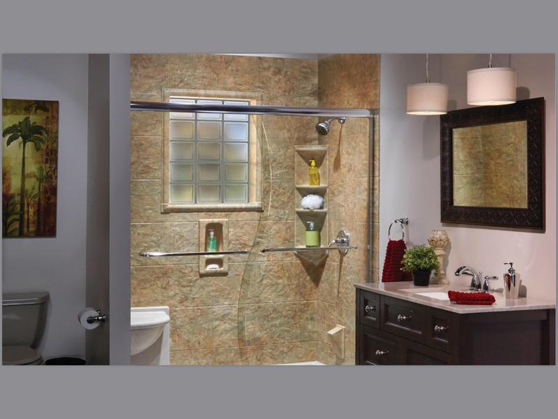 Sliding Tub and Shower Enclosures- Semi-Frame less