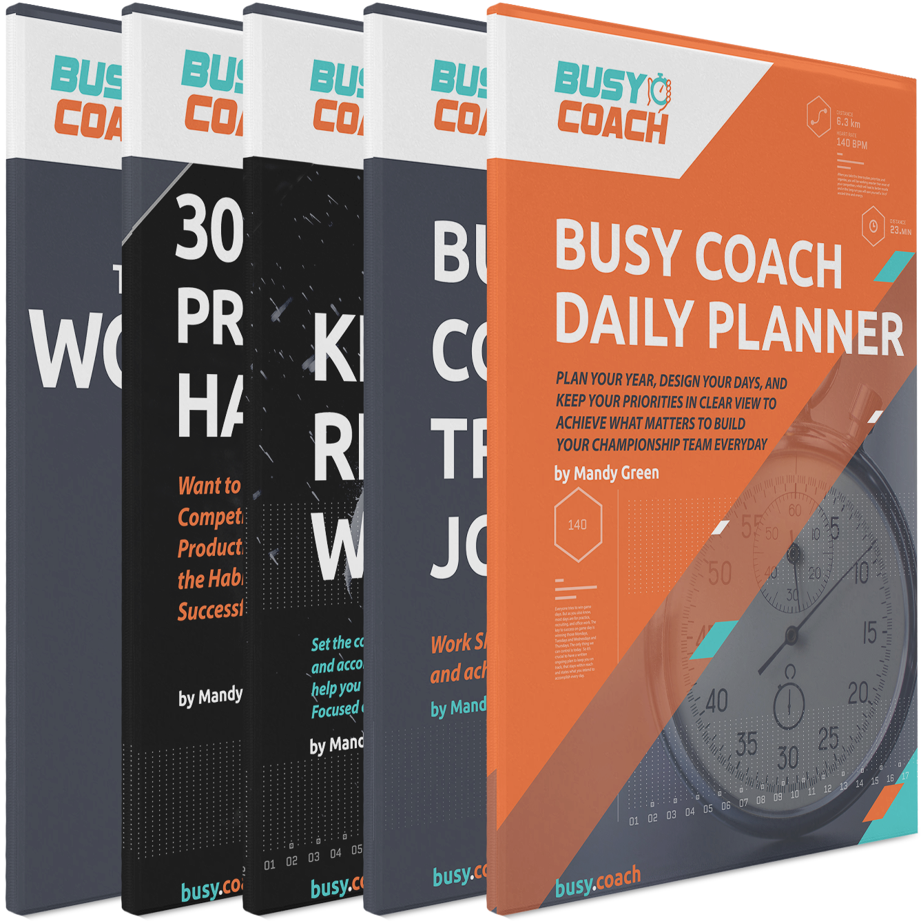 5 Book Productivity System Bundle for College Coaches MG-P-BCB-1