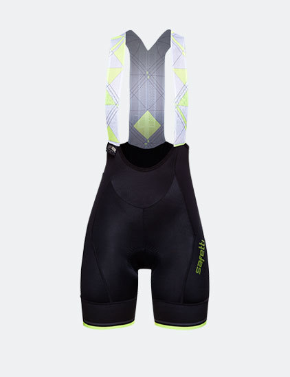 Bib Shorts - Geometric Yellow