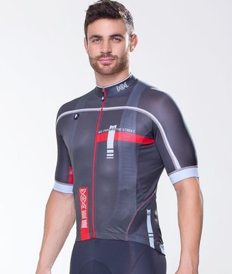 Short Sleeve Jersey - Bike Code Gray