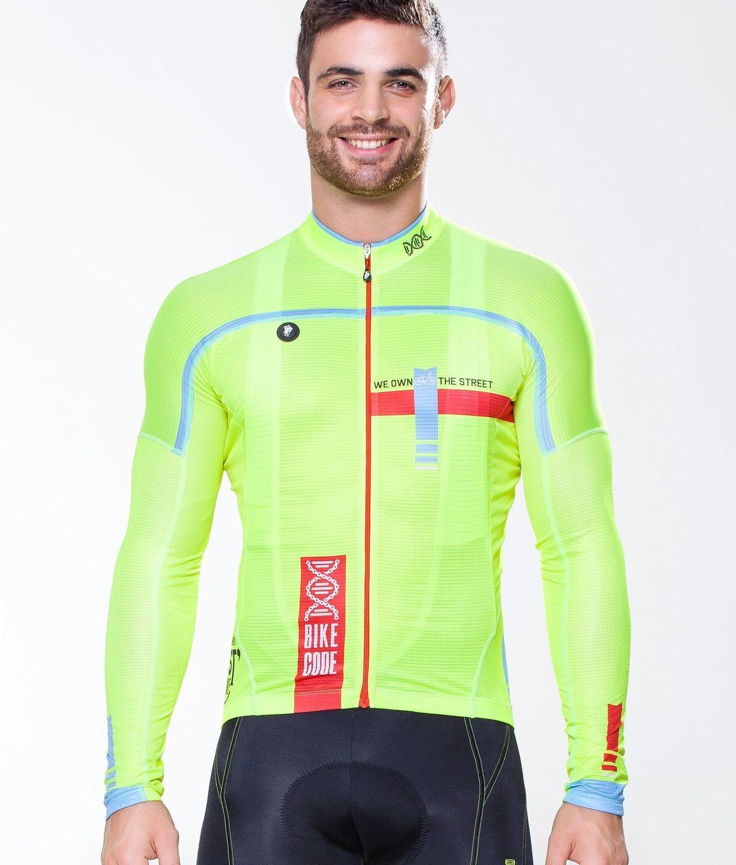 Long Sleeve Jersey - Bike Code Neon