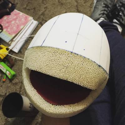 Round Person Head Pattern with fleece covering pattern