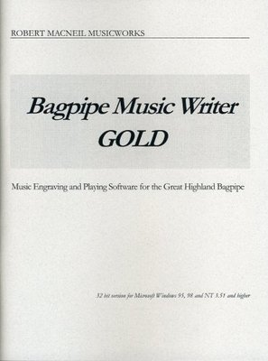 Bagpipe Music Writer Gold